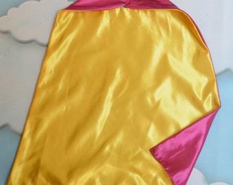Cape. Plain Cape. Reversible Cape. Yellow and Pink Cape. Kids Cape.