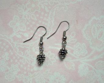 Earrings pins silver vintage