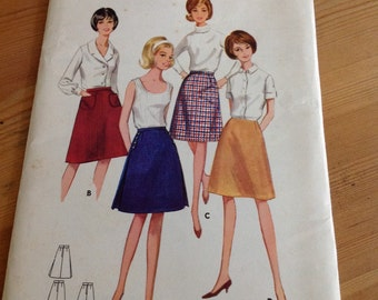 Butterick 1960s skirt pattern 4075 waist 30 hip 40
