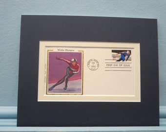 Winter Olympics - The Sport of Speed Skating & First Day Cover of its own stamp