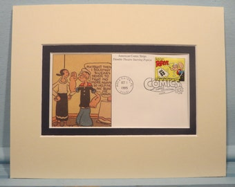 Comic Strip Classic - Popeye the Sailor Man & First Day Cover of his own stamp