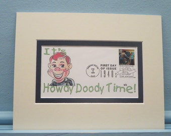The Howdy Doody Show & First Day Cover of the Introduction of TV Stamp