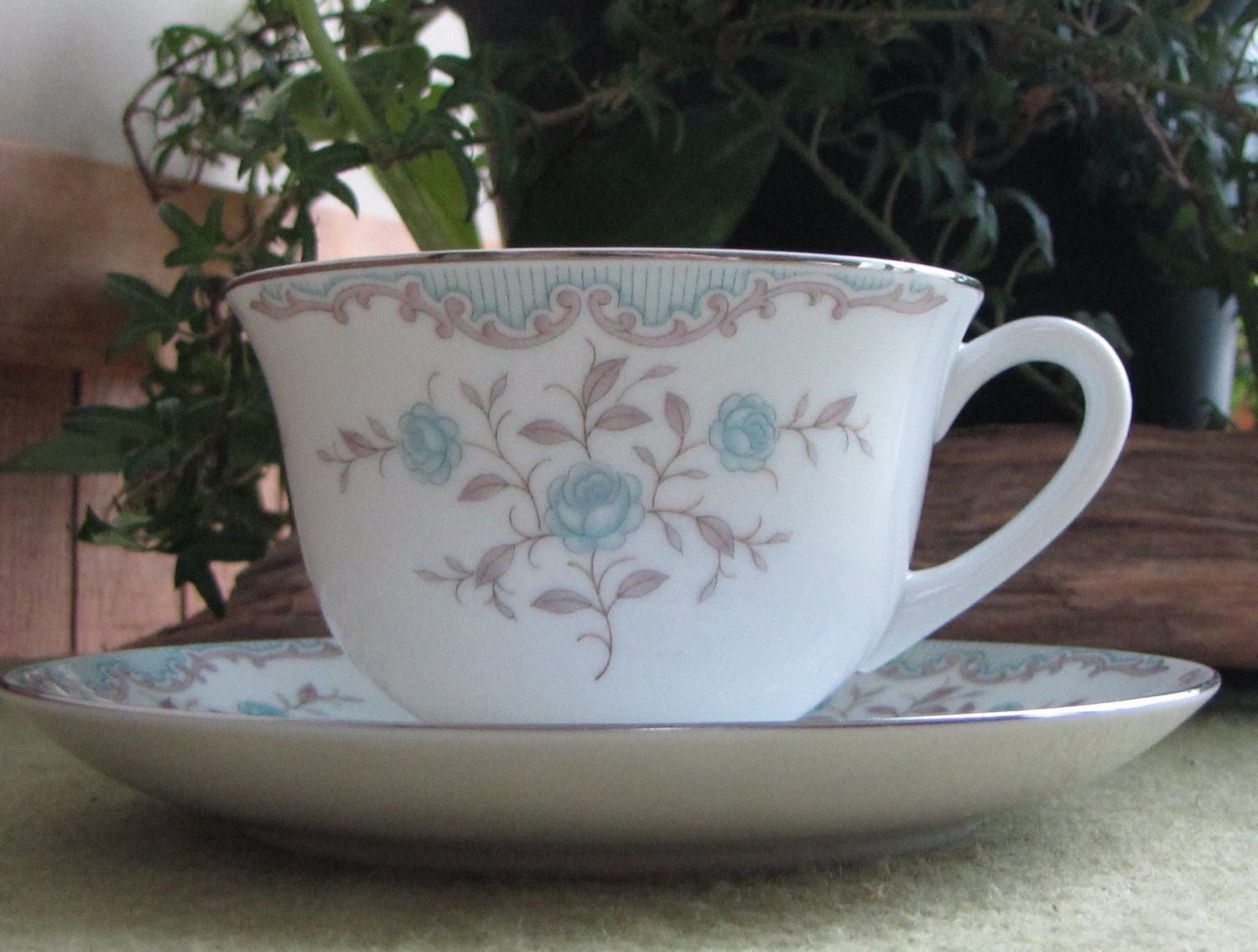 & Phoebe by Narumi Vintage Tea Cup and Saucer Dinnerware and Replacements