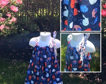 Clearance Patriotic Pillowcase Sundress