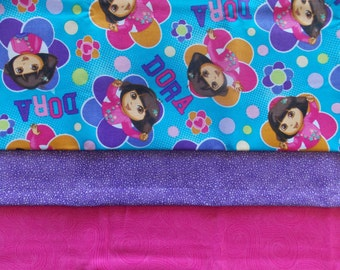 Dora The Explorer Pillowcase Sewing Kit Fabric Precut Instructions Included Fits Standard Pillow