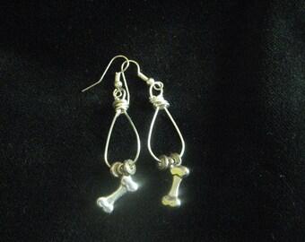 Silver Bone Earrings
