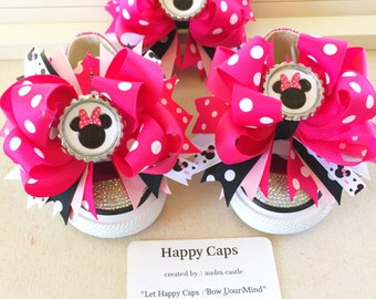 Minnie Mouse Shoe Toppers and Hair Bow