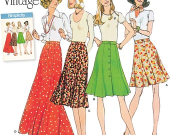 Misses' Skirt Simplicity Pattern 8019