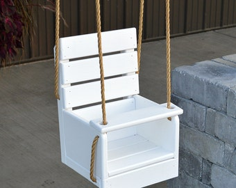 Yellow Pine Baby Swing