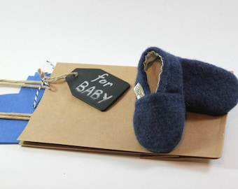 Hipster Newborn Clothes- Gender Neutral Baby Gift- Newborn Shoes- Navy Baby Booties