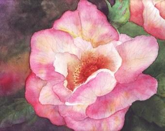 Original watercolor painting, Floral art, flower painting, summer flowers, gardens