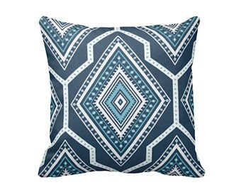 Decorative Throw Pillow Covers Decorative Pillows for Couch Navy Blue Pillow Covers Navy Pillows Navy Accent Pillows Turquoise Pillows