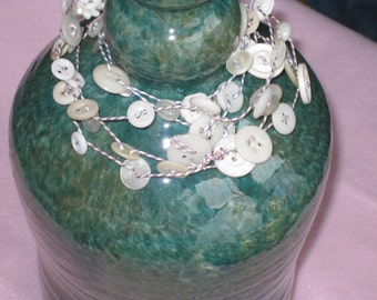 Mother of Pearl, Vintage Button Garland Decoration