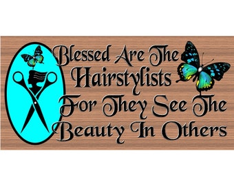 Hairdresser Wood Signs  - Hairstylist Sign  GS 2514 -  Stylist Plaque - Hairdresser plaque