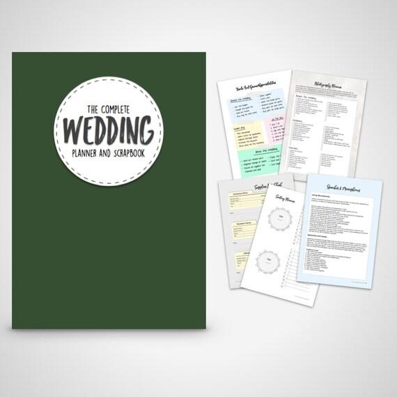 Wedding Planner Binder Printable Evergreen Organiser Folder Instant Digital Download
