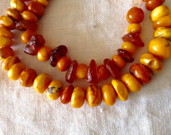 Vintage  Baltic butterscotch amber  necklace.