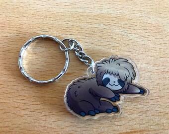 Cute sloth keyring or phone charm