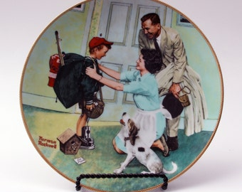 Home from Camp - Norman Rockwell Coming of Age Collector Plate  MINT!