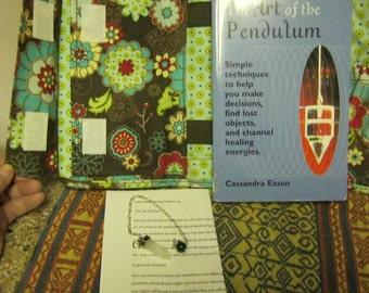 "Quartz Crystal Pendulum Dowsing Divination Kit in ""Thirty One"" Book Planner"