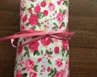 Fold up floral fabric shopping bag