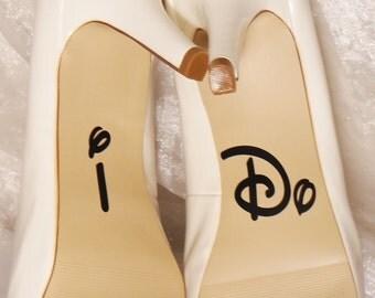I Do Wedding Shoe Decals, High Heel Decals, Shoe Decals for Wedding, Wedding Shoe Decals, Custom Shoe Decals, Disney Shoe Decals