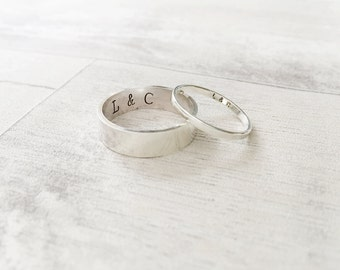 Matching Ring Set in Sterling Silver