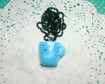 Pendant Cabochon resin/kawaii mug