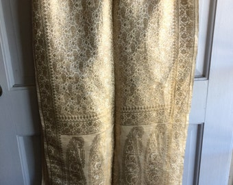 Vintage gold shawl wrap/home decor