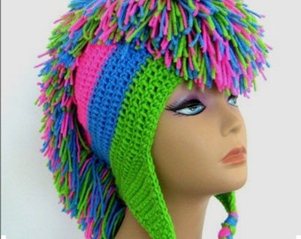Mohawk scull hat