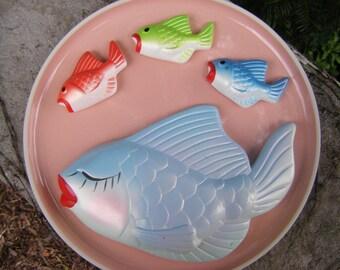 Miller Studios Chalkware Family of Fish