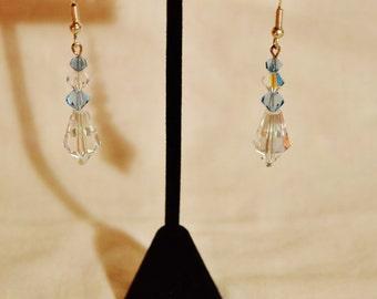 Something Blue Swarovski Drip Drop Earrings