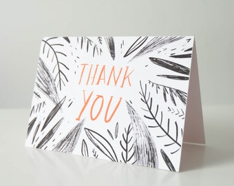 Illustrated Floral Thank You Card