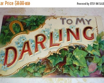 on sale To My Darling Large Letter Antique Postcard