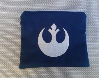 Star Wars Rebel Symbol Embroidered Zipper Pouch