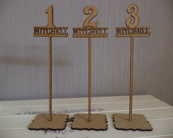 Wedding Table Numbers, Personalised