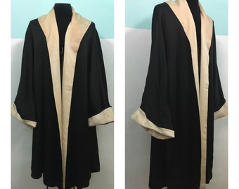 Rare vintage silk coat from 1950