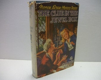 1943 Nancy Drew  The Clue in The Jewel Box  by Carolyn Keene hc/dj 1st edition