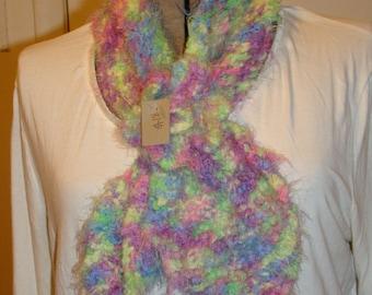 Multi-colored neck warmer