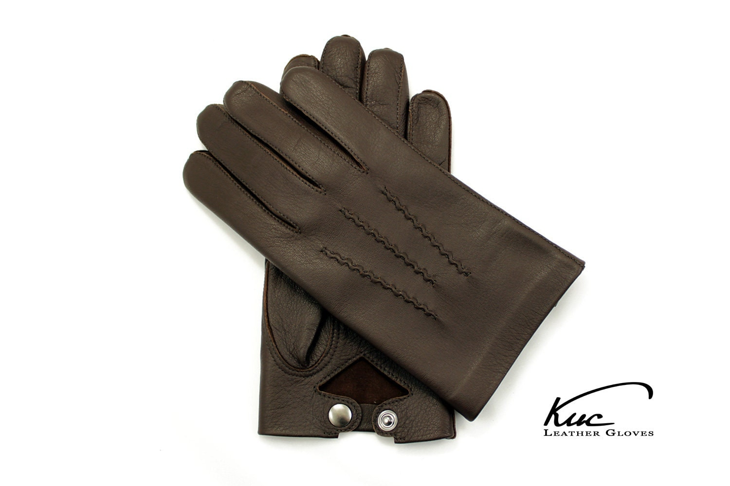 Leather driving gloves gold coast - Mens Unlined Leather Gloves Officer Gloves With Popper Wrist Fastener Police Gloves Very Comfortable And Elegant Soft Nappa Leather