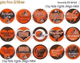HUGE SALE INSTANT Download Cleveland Browns Inspired 4x6 Digital Printable 1 Inch Circle Bottle Cap Images
