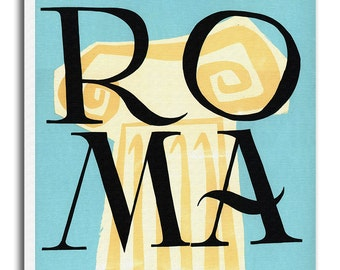 Vintage Italy Art Rome Travel Poster Print Canvas Hanging Wall Decor xr538