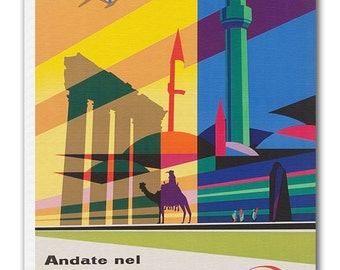 Middle Eastern Art Vintage Travel Poster Retro Home Decor Print xr929