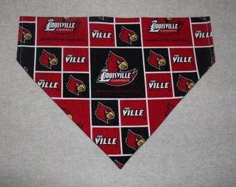 University of Louisville Cardinals Dog Bandanna in Small, Medium, or Large