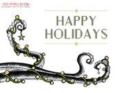 TENTACLE HEART //  Octopus Holiday Cards