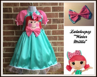 Boutique custom  pageant  Lalaloopsy Doll inspired dress, Peanut big top, Water Millie Seeds, Crumbs Sugar Cookie, Mittens fluff and stuff,