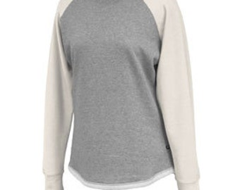 Sweatshirt Crew with Creme Colored Sleeves-FREE MONOGRAMMING