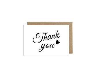Thank You Cards Wedding Cute Love Card Kraft Envelope