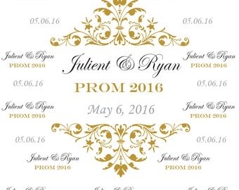 Senior Prom Backdrop Photobooth Party Photo Birthday