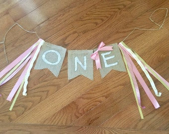 Homemade Custom Birthday Burlap Banner