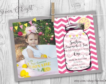 Lemonade Birthday Party Invite - Digital File ONLY